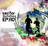 Corredor — Vector de stock