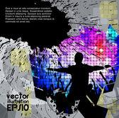 Baile de fondo — Vector de stock