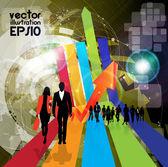 Business team — Stock Vector
