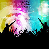 Music event background. Vector eps10 illustration. — Vector de stock