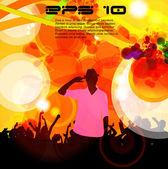 Music event background. Vector eps10 illustration. — Vecteur