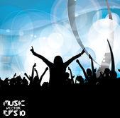 Musica di sottofondo di evento. illustrazione eps10 vettoriale. — Vettoriale Stock
