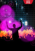 Crowd of dancing . Vector — Stock Vector