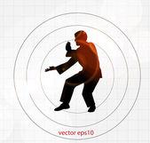 Karate illustration — Stock Vector