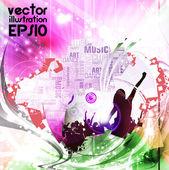 Music event background. Vector eps10 illustration. — Wektor stockowy