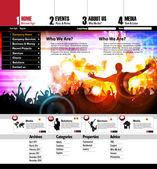 Webbdesign — Stockvektor