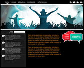 Website design — Stock Vector
