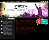 Websiteontwerp — Stockvector