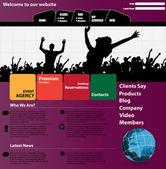 ウェブサイトのデザイン — ストックベクタ
