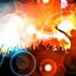 Music party illustration - Stock Photo