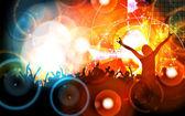 μουσική κόμμα εικονογράφηση — Stockfoto