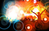 Music party illustration — Stockfoto