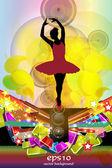 Ballet dancer — Stock Vector
