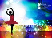 Ballet dancer performing — Stock Vector