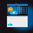 Cloud Computing weather icons — Stock Vector