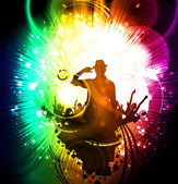 Ilustração de festa de música — Foto Stock