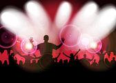 Music party illustration — Stock Photo