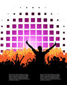 Music party illustration — Stock Vector
