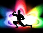 Bodybuilding illustration — Stock Photo
