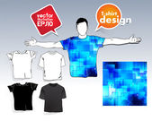 T-shirt design. Vector — Stock Vector