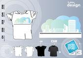 Partij t-shirt sjabloonontwerp vector — Stockvector