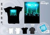 Party T-Shirt template vector design — Stock Vector