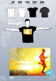 Strony t-shirt szablon wektor wzór — Wektor stockowy