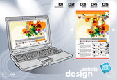 Plantilla web colorido — Vector de stock