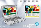 Kleurrijke website sjabloon — Stockvector