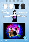Parti t-shirt mall vektor design — Stockvektor