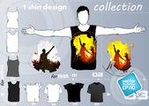 Party t-shirt-vorlage-vektor-design — Stockvektor
