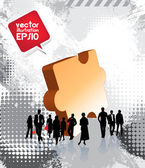 Group of business and office — Vecteur