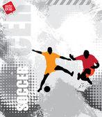 Soccer players — Cтоковый вектор