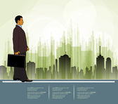 Businessman vector — Vettoriale Stock