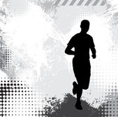 Sport illustration. Running — Stock Photo