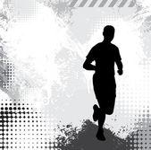 Illustration de sport. en cours d'exécution — Photo