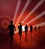 Sport illustration. Running — Stock Photo
