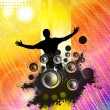 Music poster background — Stockfoto