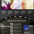 Stockvektor : Web design template