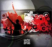 Dancing . Poster background. Vector — Stock Vector