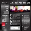 Web design template — Vector de stock