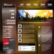 Web design template — Image vectorielle