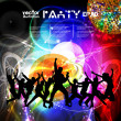 Stock Vector: Disco party