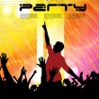 Dance party. Vector — Stock Vector
