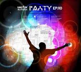 Ilustración de fiesta de la música — Vector de stock