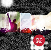 Muziek partij illustratie — Stockvector