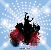 Dans partisi — Stok Vektör