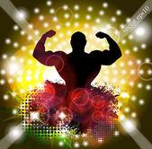 Athletic, muscular man — Stock Vector
