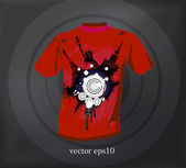 T shirt design. vector — Stock Vector