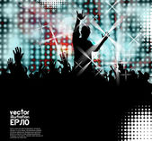 Disco party. Music event. Vector — Stock Vector